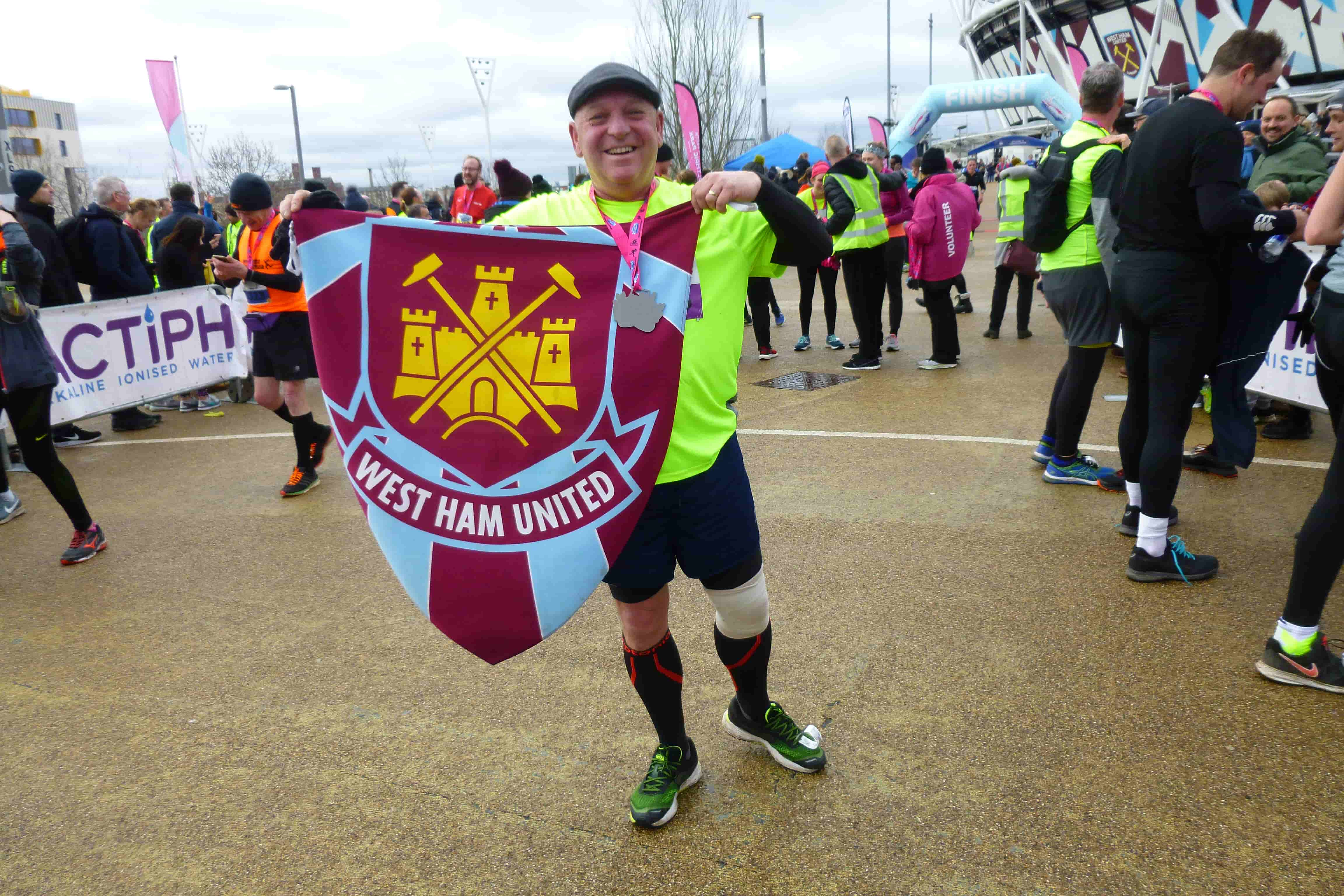 Richard ran a half marathon to raise money for Any Old Irons
