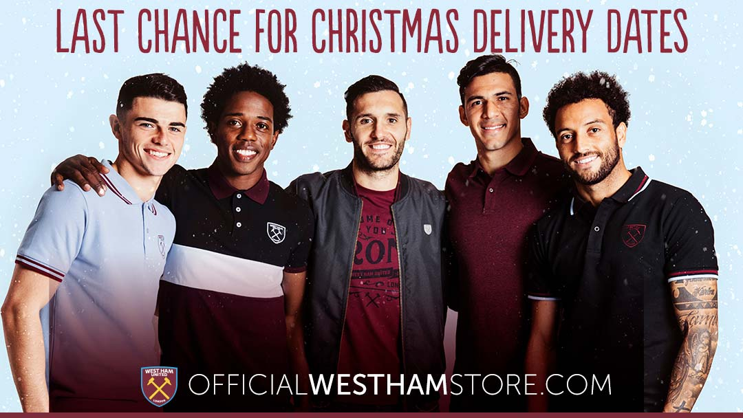 Last Chance For Christmas.Last Chance For Christmas Delivery West Ham United