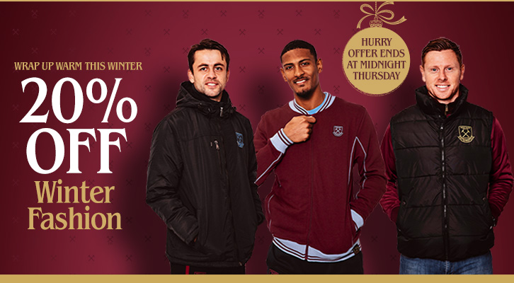 20% off Winter Fashion