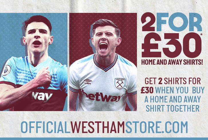 2 for £30 shirt promo