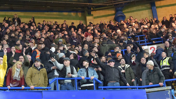 The Claret and Blue Army at Chelsea