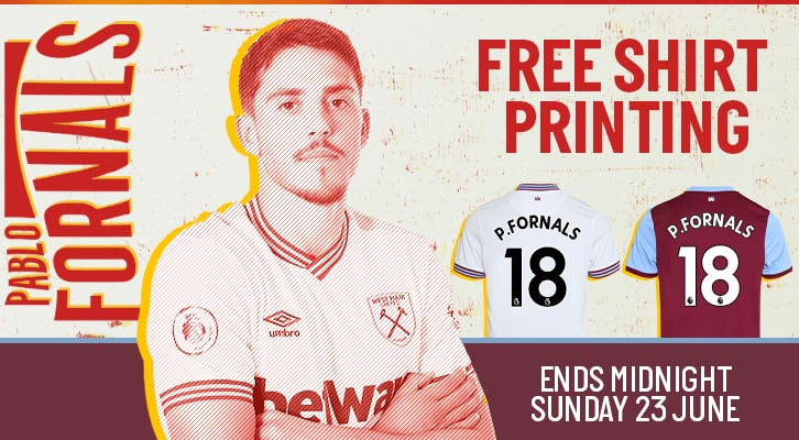 Pablo Fornals shirt printing offer
