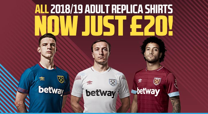 All 2018/19 replica kits are now just £20 graphic