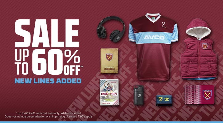 0710c3ed2 Shop now in our sale - up to 60% off! | West Ham United
