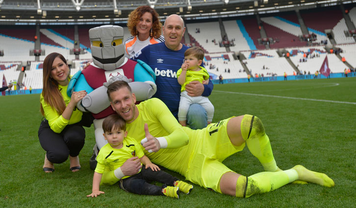 Adrian with his family at London Stadium