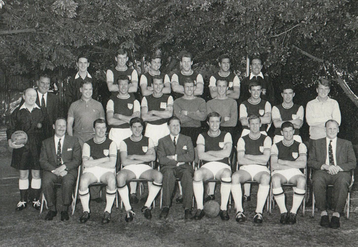 The West Ham United squad in Africa in June 1962