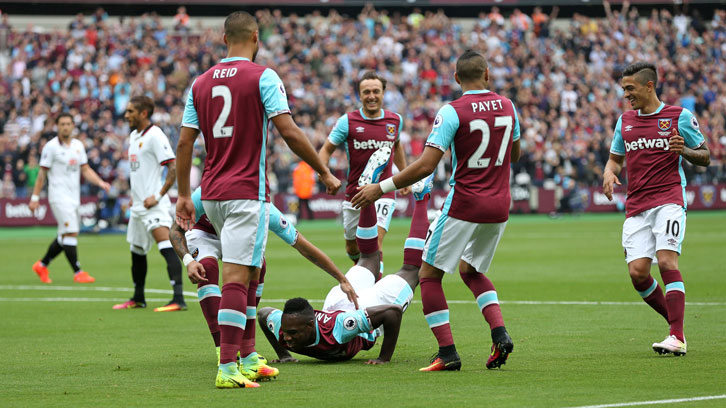 It is 18 months since Michail Antonio scored twice against Watford and celebrated with the Worm