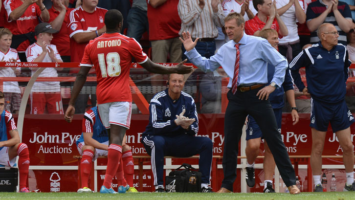 Michail Antonio played under Stuart Pearce at Nottingham Forest in 2014/15