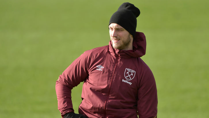 Marko Arnautovic in training at Rush Green