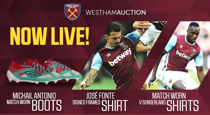 aa5063c65 Bid for Michail Antonio and Pedro Obiang s match-worn shirts!