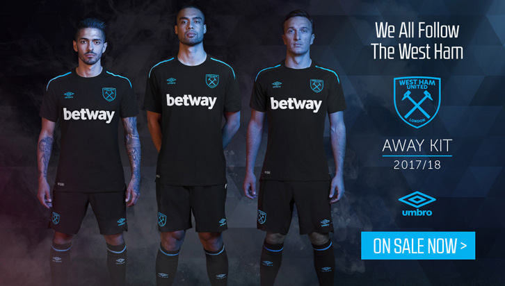 newest e9ab9 5ec7a 2017/18 Away Kit on sale online and in store now | West Ham ...