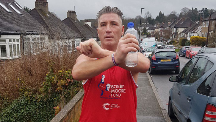 James Cullen is raising valuable money for the Bobby Moore Fund