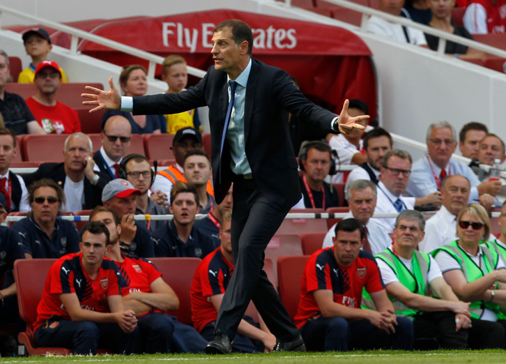 Slaven Bilic at the opening game of the season at Arsenal two years ago