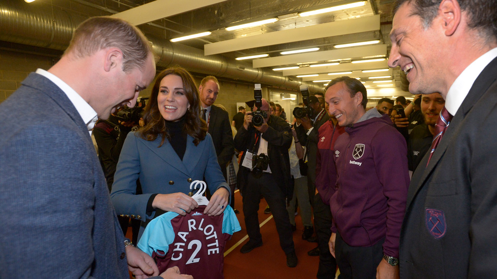 Slaven Bilic and Mark Noble meet the Duke and Duchess of Cambridge