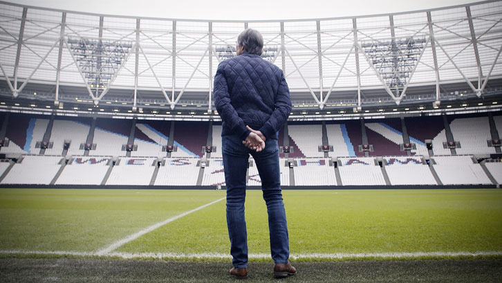 Billy Bonds surveys the stand named in his honour
