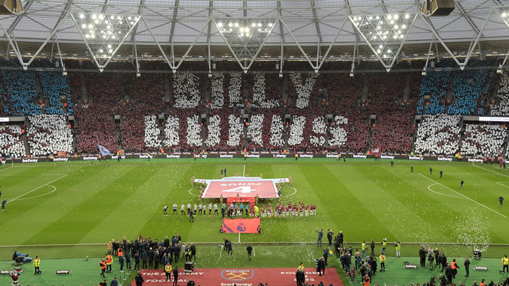 The Billy Bonds Stand was unveiled ahead of the home win over Newcastle in March