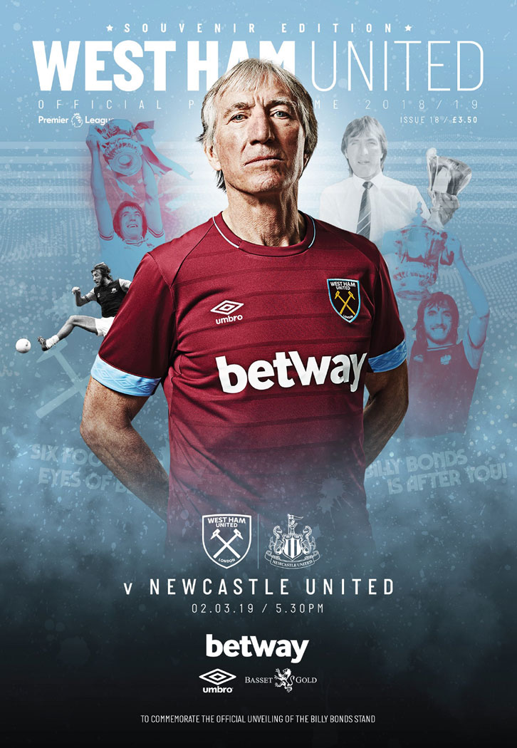 Billy Bonds adorns the cover of the Official Programme