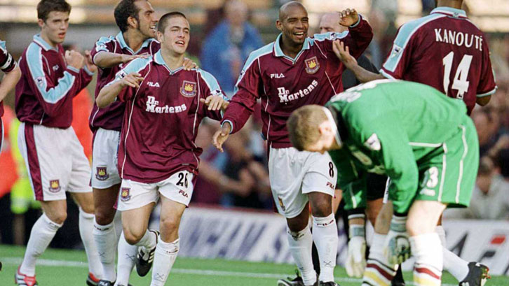 West Ham celebrate a goal against Bradford