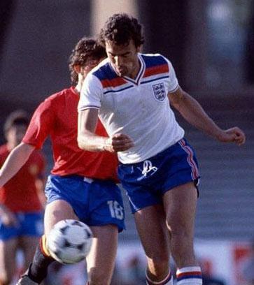 Trevor Brooking in action against Spain