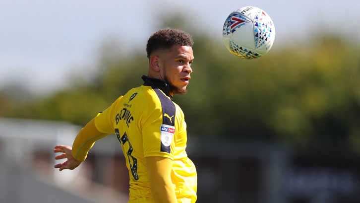 Marcus Browne in action for Oxford United