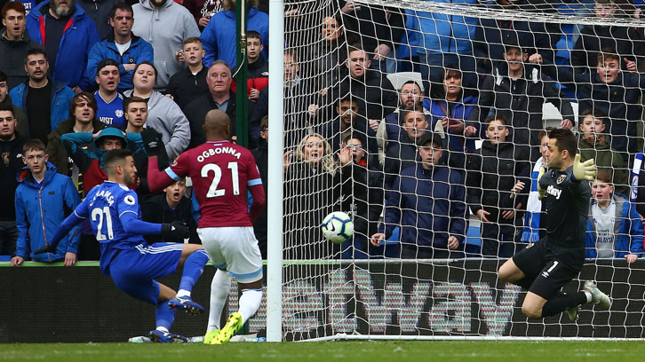 West Ham United slumped to a fifth defeat in six away matches at Cardiff City