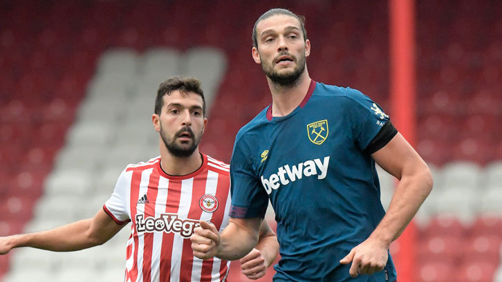 Andy Carroll made his comeback at Brentford on Thursday afternoon