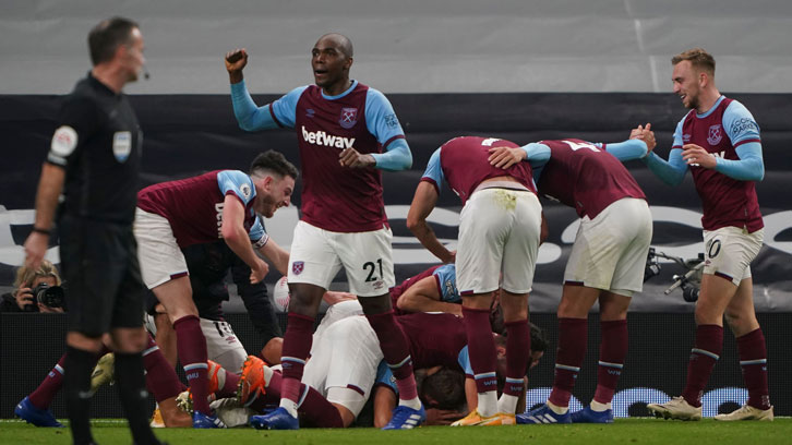 West Ham celebrate against Spurs