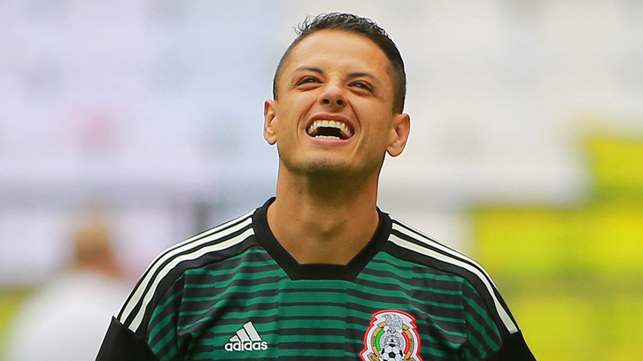 Chicharito in training with the Mexico national team
