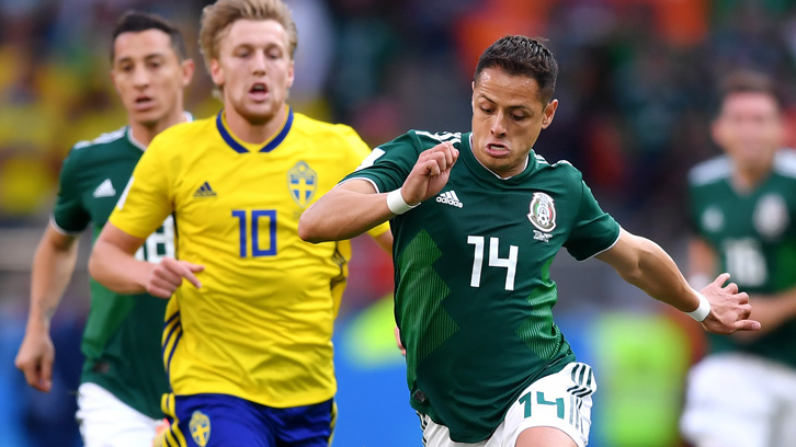 new products 45538 2725a World Cup 2018: Chicharito and Mexico through to Round of 16 ...