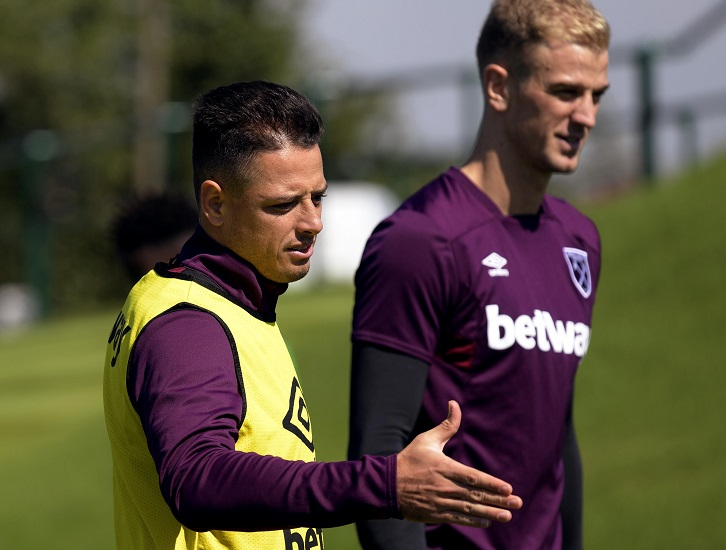 Chicharito and Joe Hart