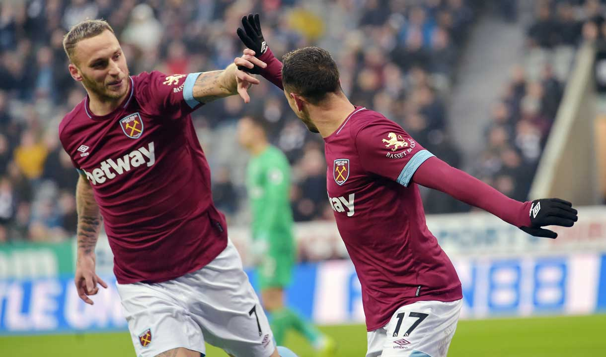 Chicharito and Marko Arnautovic