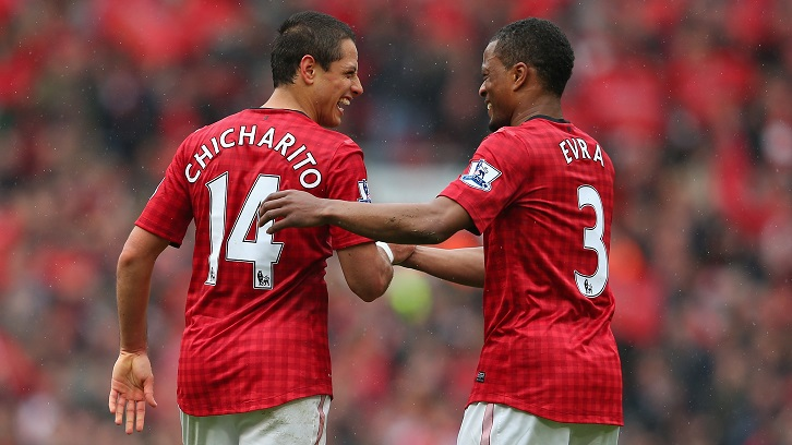 Chicharito and Patrice Evra became close during their time together at Manchester United