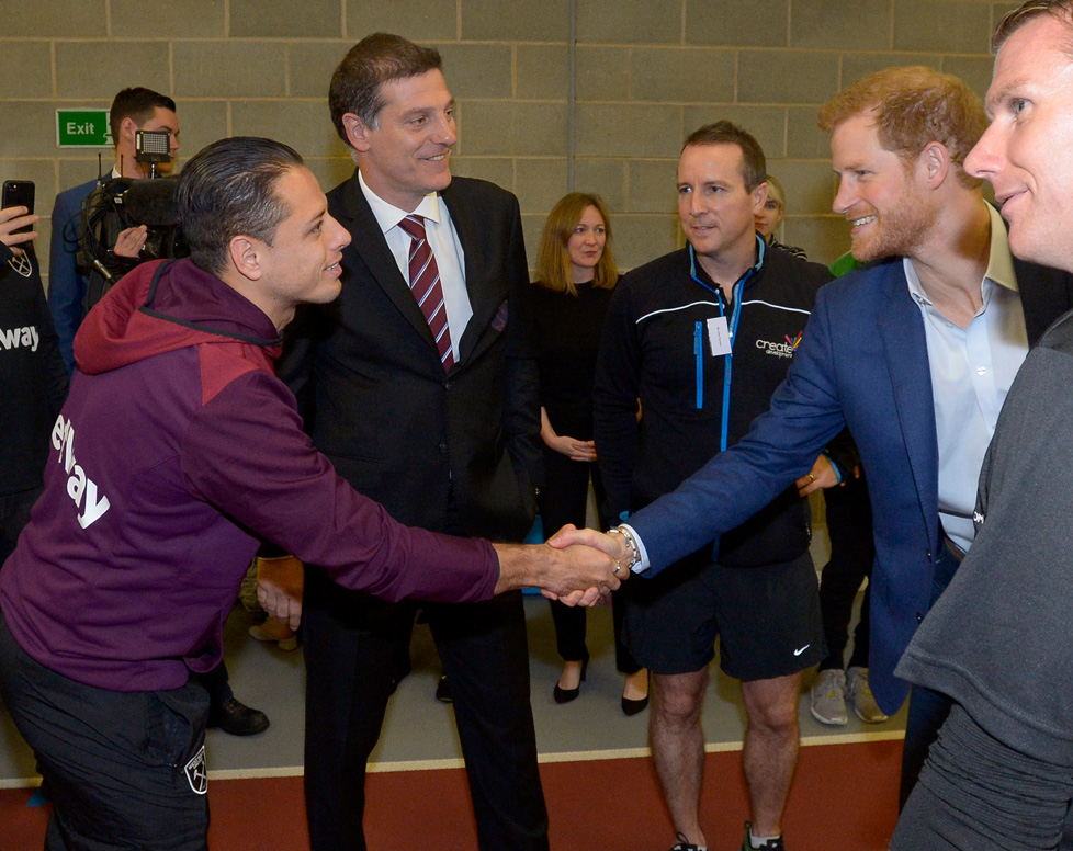 Chicharito meets Prince Harry