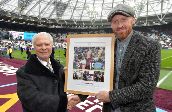 Joint-Chairman David Gold made a special presentation to James Collins
