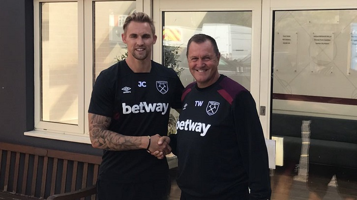 Jack Collison and Terry Westley