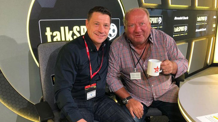 Tony Cottee and Alan Brazil