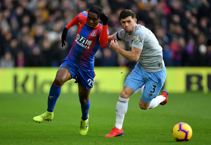 Aaron Cresswell in action at Crystal Palace