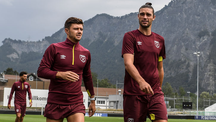 Aaron Cresswell and Andy Carroll