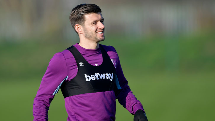 Aaron Cresswell in training