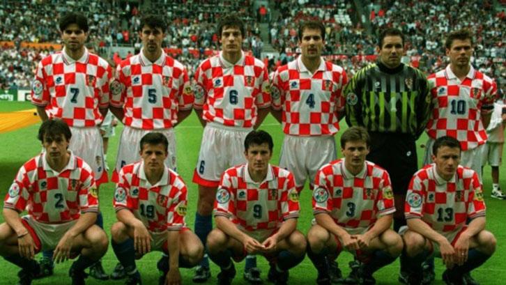 Croatia line up in 1996