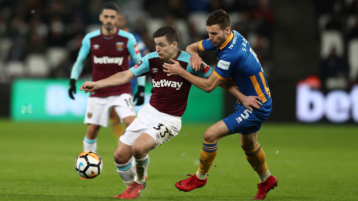 Josh Cullen impressed in the two Emirates FA Cup ties with Shrewsbury Town