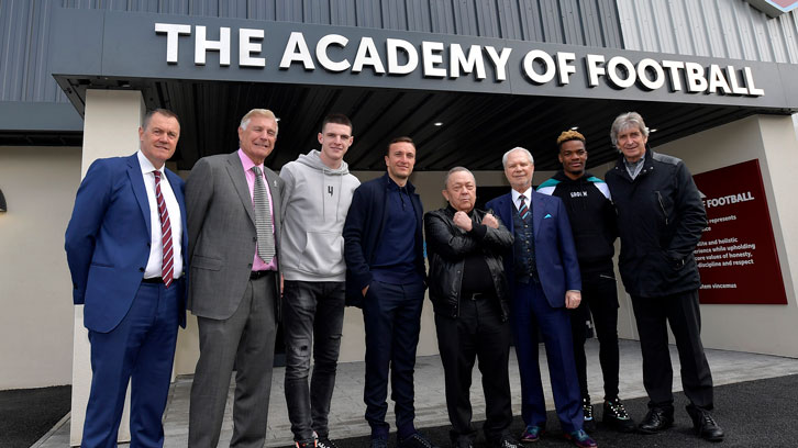 David Sullivan and David Gold at the Academy of Football