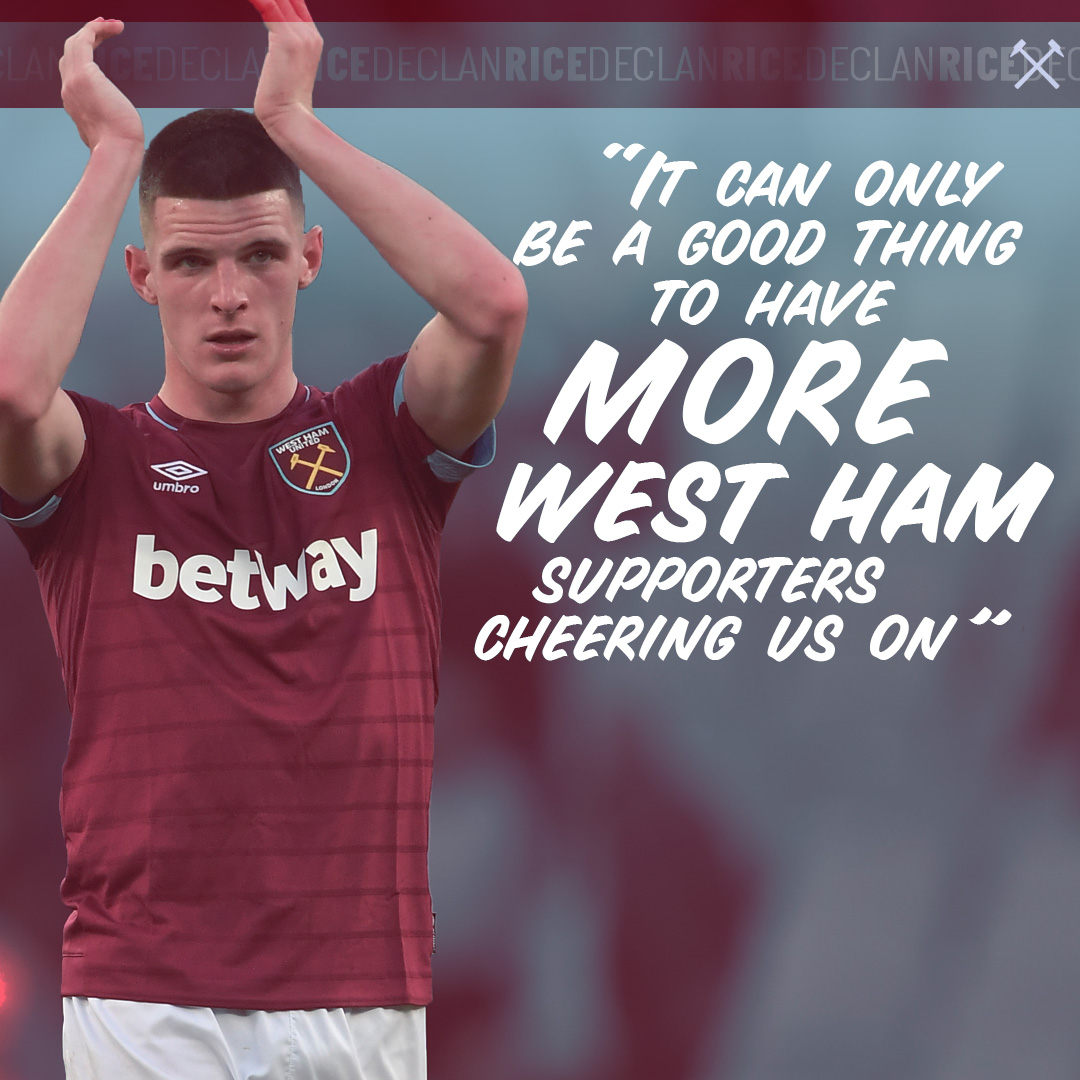 Declan Rice quote graphic