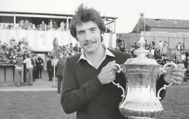 Alan Devonshire returned to non-league Southall with the FA Cup in 1980