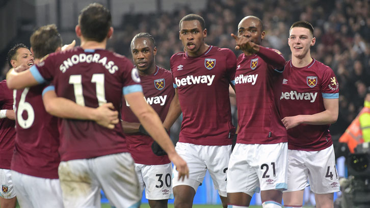 Issa Diop celebrates victory over Huddersfield