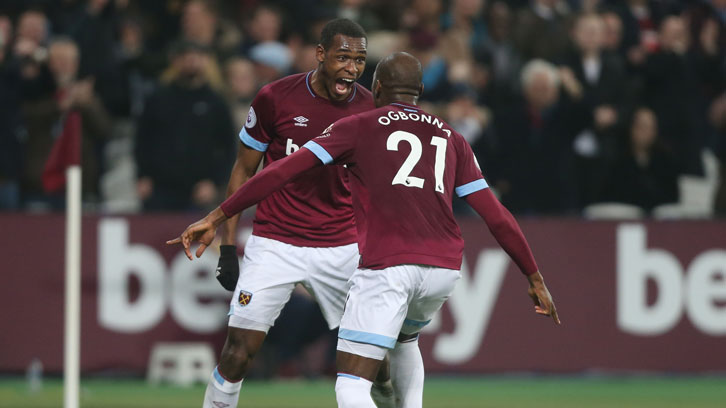 The manager hailed the form of centre-backs Issa Diop and Angelo Ogbonna