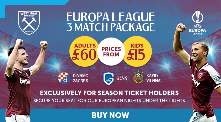 Europa League packages now on sale