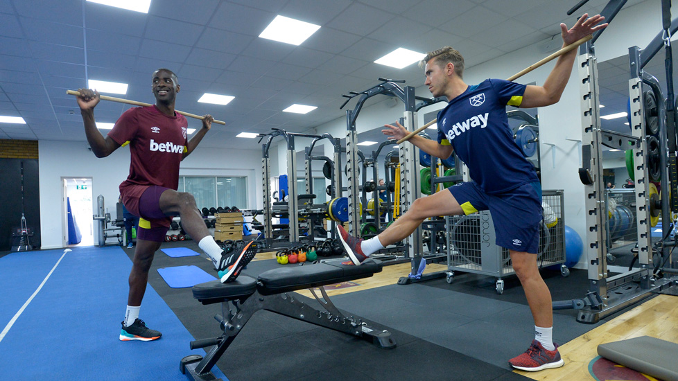 Josh Ewens with Pedro Obiang