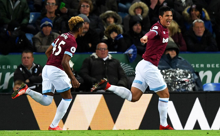 Fabian Balbuena scored his first goal for the Club at Leicester City in October
