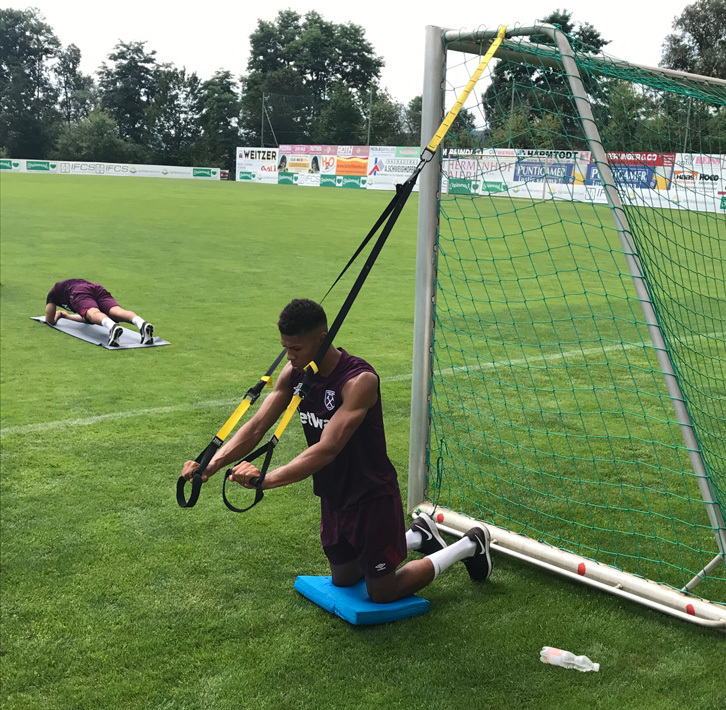 Ashley Fletcher stretches out